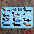 Tachshund Dog Wonderful Wieners винтажный оловянный постер, постер для паба, Настенный декор 20X30CM