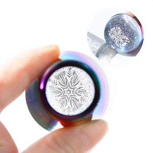 Image 2 - Tampon en Silicone Transparent pour les ongles, timbre holographique, grattoir de vernis, modèle de manucure, transfert dimpressions