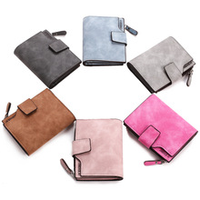 Leather Women Wallet Hasp Small and Slim Coin Pocket Purse Women Walle