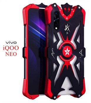Перейти на Алиэкспресс и купить ДЛЯ Vivo IQOO NEO роскошный новый сверхмощный бронированный Металлический Алюминиевый задний Чехол VIVO Z5 V17 Neo Y7S S1 Helio P65