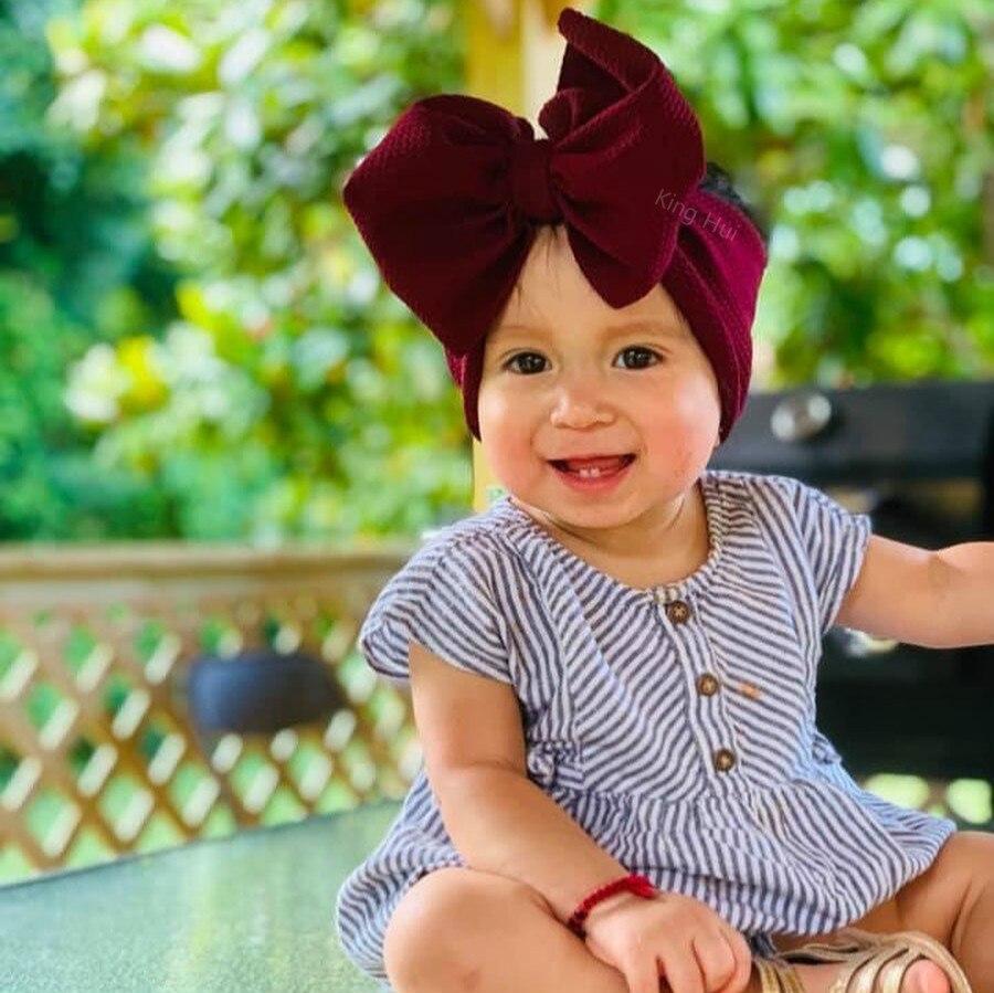 Baby Turban Bows Baby Girl Headbands For Girls Baby Headband Bandeau Bebe Fille Baby Hair Accessories Newborn Headband Headwrap