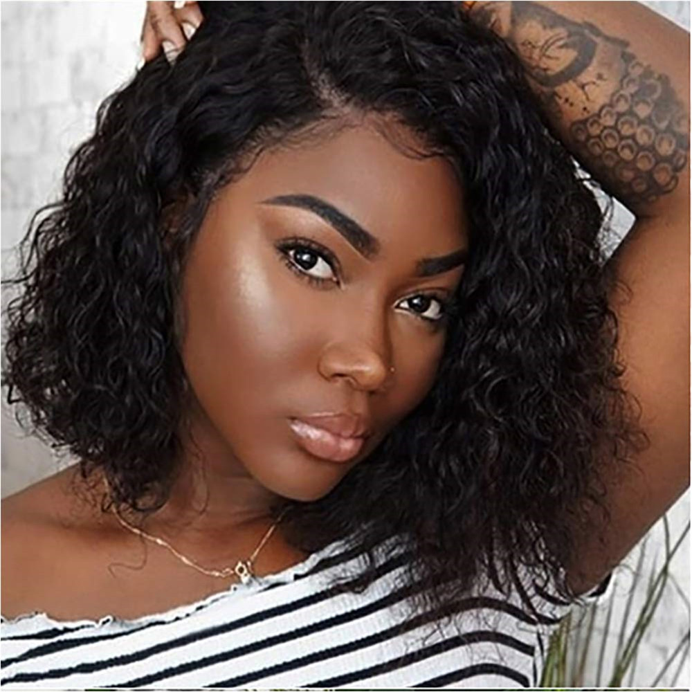 Eseewigs Afro Kinky Curly 13x4 Lace Front Wigs For African American Brazilian Remy Human Hair Lace Wig Side Part Baby Hair