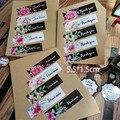 100pcs/80 teile/los Nette danke nur für sie Blumen Dichtung Klebstoff Kraft Dichtung Aufkleber
