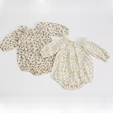 0-3Yrs Infant Baby Rompers Baby Girls Long Sleeve Floral Clothes Rompers 2020 New Spring Autumn Baby Girls Rompers