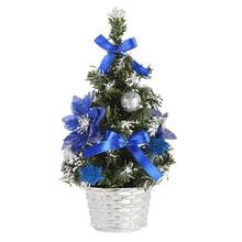 1 шт., 20 см, Рождественская елка, искусственные мини елочные украшения для рождественского фестиваля, Настольная мини-елка, домашний декор, 19SEP6