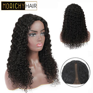 Morichy Wigs Human for Female Natural-Black Hai Lace Deep-Wave-Part Glueless Real 150%Density