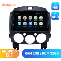Seicane Android 8.1 For MAZDA 2/Jinxiang/DE/Third generation 2007 2013 2014 Car Radio GPS 9 2Din Unit Multimedia Player 3G wifi
