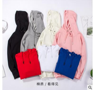 ZNG Winter 2018  Men's And Women's New Hooded Hooded Sweater Men's Solid Color Sweater Women Wholesale Men's