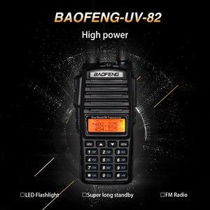 Image 2 - 8W High Power BaoFeng UV 82 Walkie Talkie Dual Band FM Transceiver 10KM 128CH Portable CB Ham Radio UV82 Hunting Two Way Radio