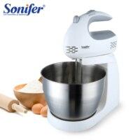 200W mikser do żywności wielofunkcyjny mikser stołowy elektryczny mikser do ciasta trzepaczka do jajek mikser ręczny do kuchni 220V Sonifer w Miksery żywności od AGD na
