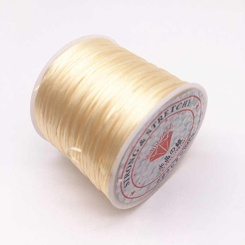 50M/Roll Kleurrijke Flexibele Elastische Kristal Lijn Touw Koord Voor Sieraden Maken Kralen Armband Draad Vissen Draad Touw