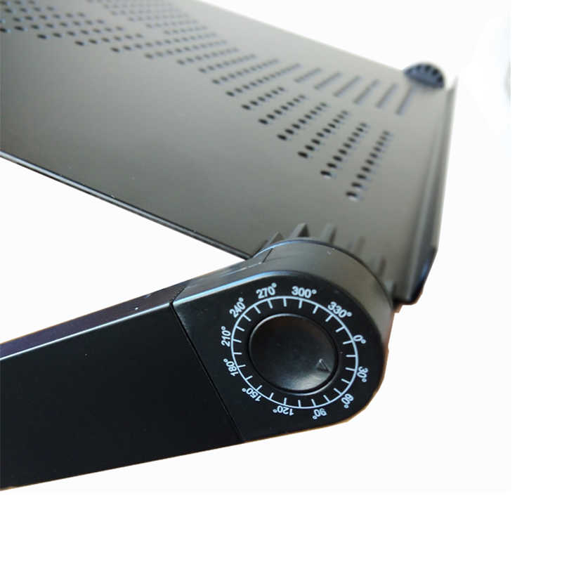 Kuways Adjustable Aluminium Meja Laptop 360 Sudut Rotasi Portabel Tempat Tidur LCD Lapdesk Tray Notebook Laptop Stand Dengan Mouse Pad