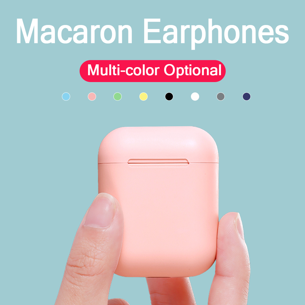 Macaron i12 tws Wireless Earphones <font><b>Bluetooth</b></font> <font><b>5.0</b></font> <font><b>Headphones</b></font> Headset Original Touch Pop-up True Stereo Earbuds Earpiece for phone image