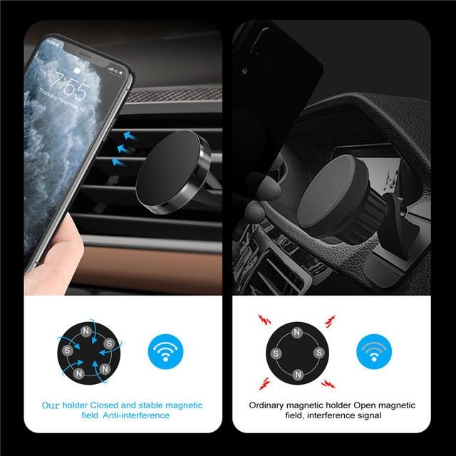 GTWIN Magnetico Supporto Del Telefono Dell'automobile per il Telefono Cellulare in Auto Supporto Del Telefono per il iPhone 11 Samsung Xiaomi Air Vent Clip smartphone Stand 5