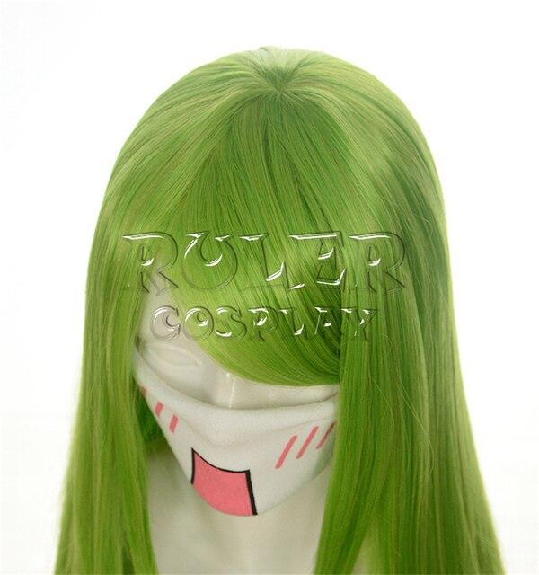 Code Geass C.c Cc Empress Wig Cosplay Costume 80cm Green Long Straight heat-resistant Fiber Hair Peruca Anime Wigs 4
