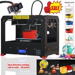 CTC czarna drukarka 3D-podwójna wytłaczarka-MK8-Factory Direct najniższa cena-PLA