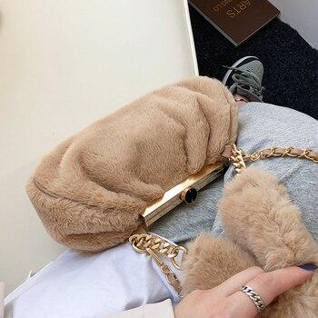 Faux Fur Cluth Bag 1