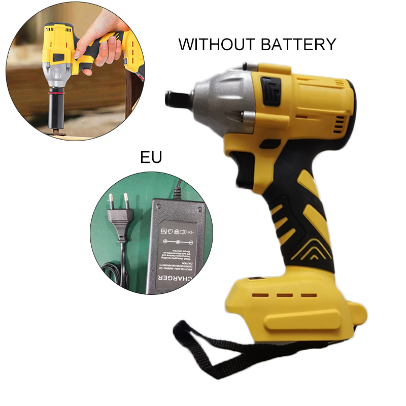 20V 530Nm 1/2 Cordless Impact Wrench Power Ratchet Gun Driver Tool Rechargeable