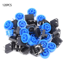 цена на 60 Pairs 4 Pin Push Button Switch Blue Momentary Tactile Micro Push Switch
