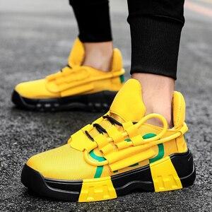Image 2 - Chunky scarpe Da Tennis di Sport Casual Scarpe Hip Hop Streetwear Spessore Degli Uomini di Fondo Giallo INS Runningg Scarpe Cestino Tenis Masculino Adulto