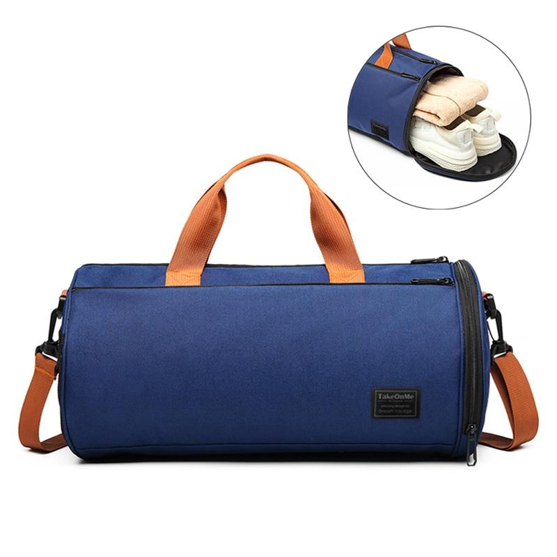 Outdoor Sports Gym Bag Multifunction Training Fitness Shoulder Bag With Shoes Pocket Travel Yoga Handbag Dry Wet Swimming Bag