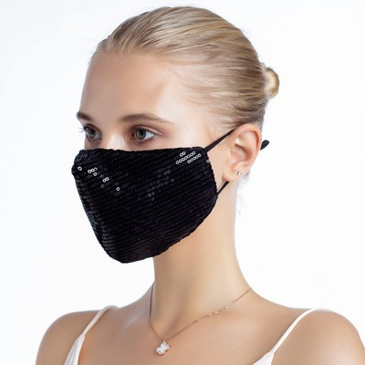 Mascarilla  Reusable Cotton Fabric Face Mask Washable Protective Fashion kpop Black Mouth Mask Bling bling For Girls Mascarillas 1