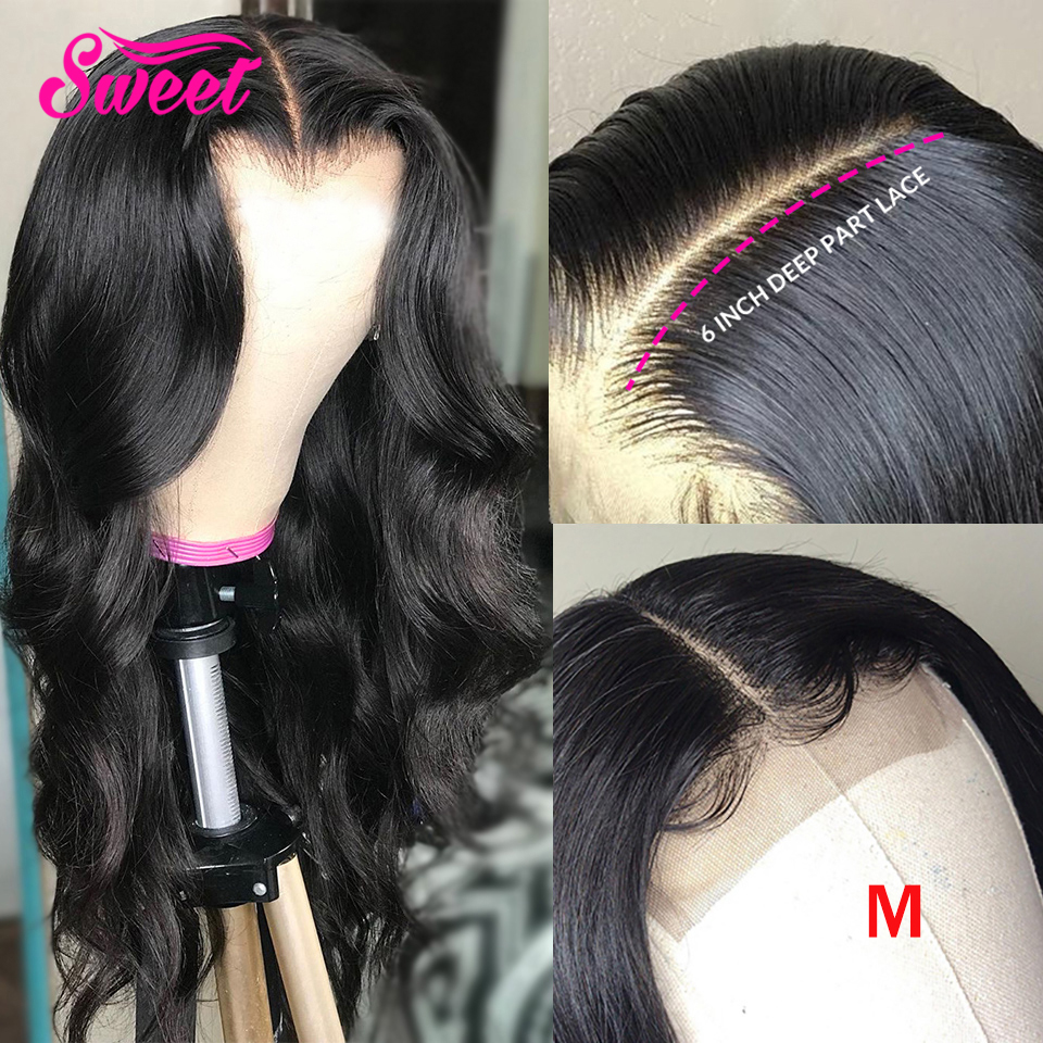 Sweet Brazilian Body Wave 6*6 Lace Closure Wigs Human Hair Wig 5*5 Lace Closure Wig Pre Plucked Remy Hair 150 Density