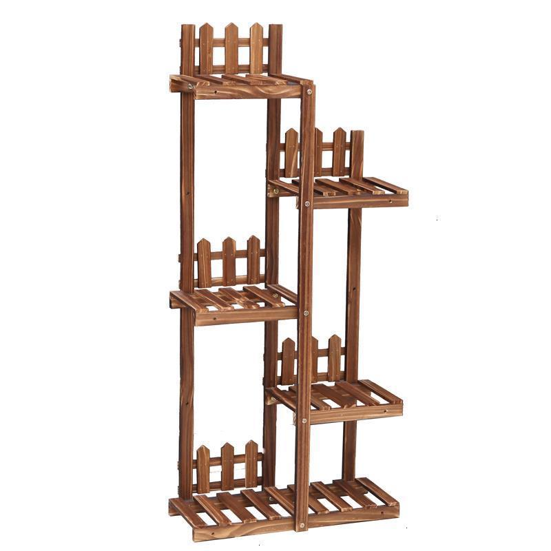 Madera Saksi Standi Estante Para Plantas For Plantenrekken Pot Stojaki Na Kwiaty Outdoor Stand Balcony Flower Rack Plant Shelf