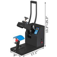 Máquina de sublimación de prensa de gorro caliente, prensa de transferencia de calor con controlador de temperatura y tiempo LED digital
