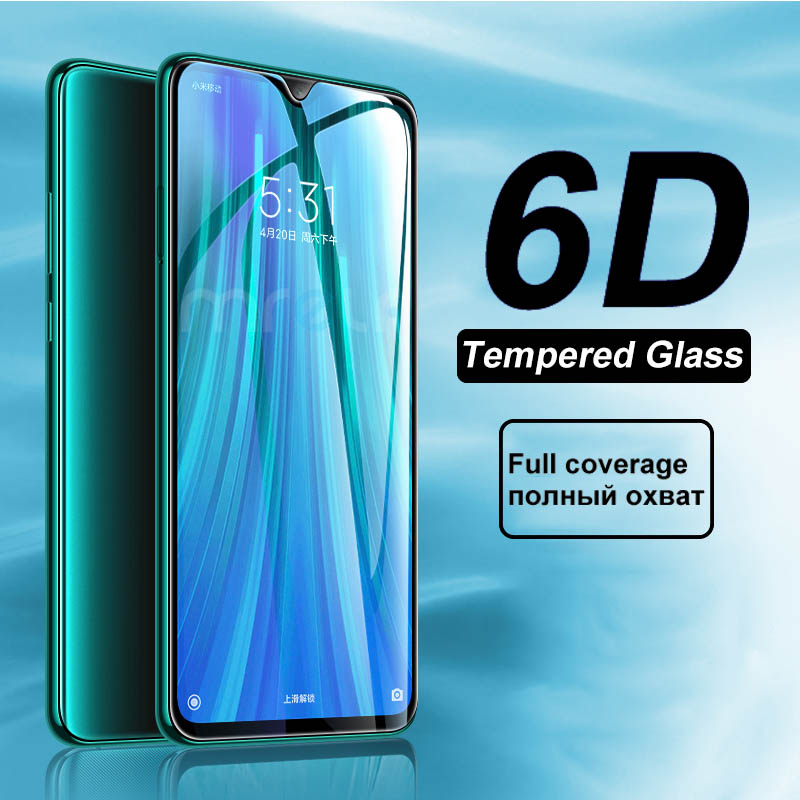 6D Tempered Glass For Xiaomi Redmi Note 8 Pro 7 6 Screen Protector Protective Safety 6A Plus 5 7A Glass On Redmi Note 8 Pro 7 6