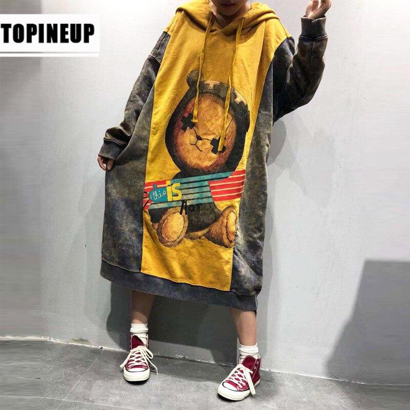 New Korean Casual Print  Harajuku Hoodie Sweatshirts For Women Patchwork EXO Hooded Hoodies Pullovers Hip Hop Streetwear
