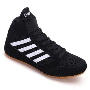 ¡Novedad! Lucha libre para zapatos de hombre, botas de lucha profesional Unisex de marca de lujo, calzado de boxeo ligero, los mejores zapatos deportivos de lucha libre para chico