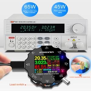 Image 4 - Тестер Аккумуляторов с цветным приложением, электронный измеритель емкости 18650, индикатор разряда, измерительный прибор для зарядки usb, DC 12 В, блок питания