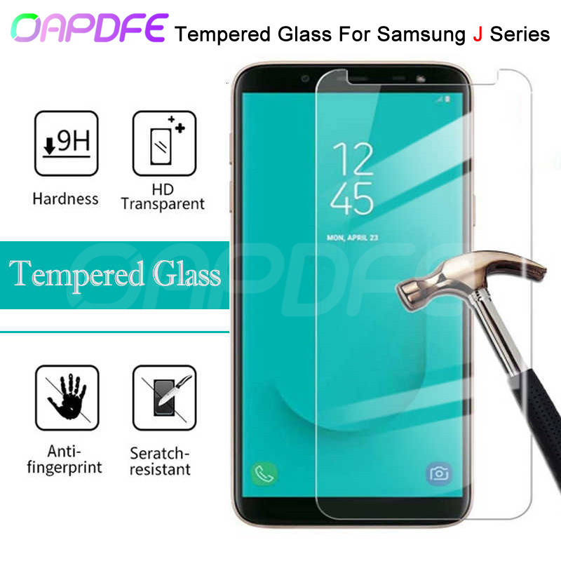 9H Tempered Glass On For Samsung Galaxy J3 J5 J7 2015 2016 2017 Screen Protector Samsung J2 J8 J4 J6 Plus 2018 Protective Film image