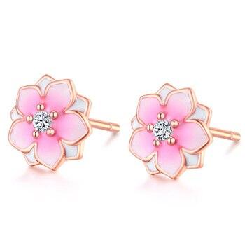 925 Silver Earrings Peach Blossom Earrings  1