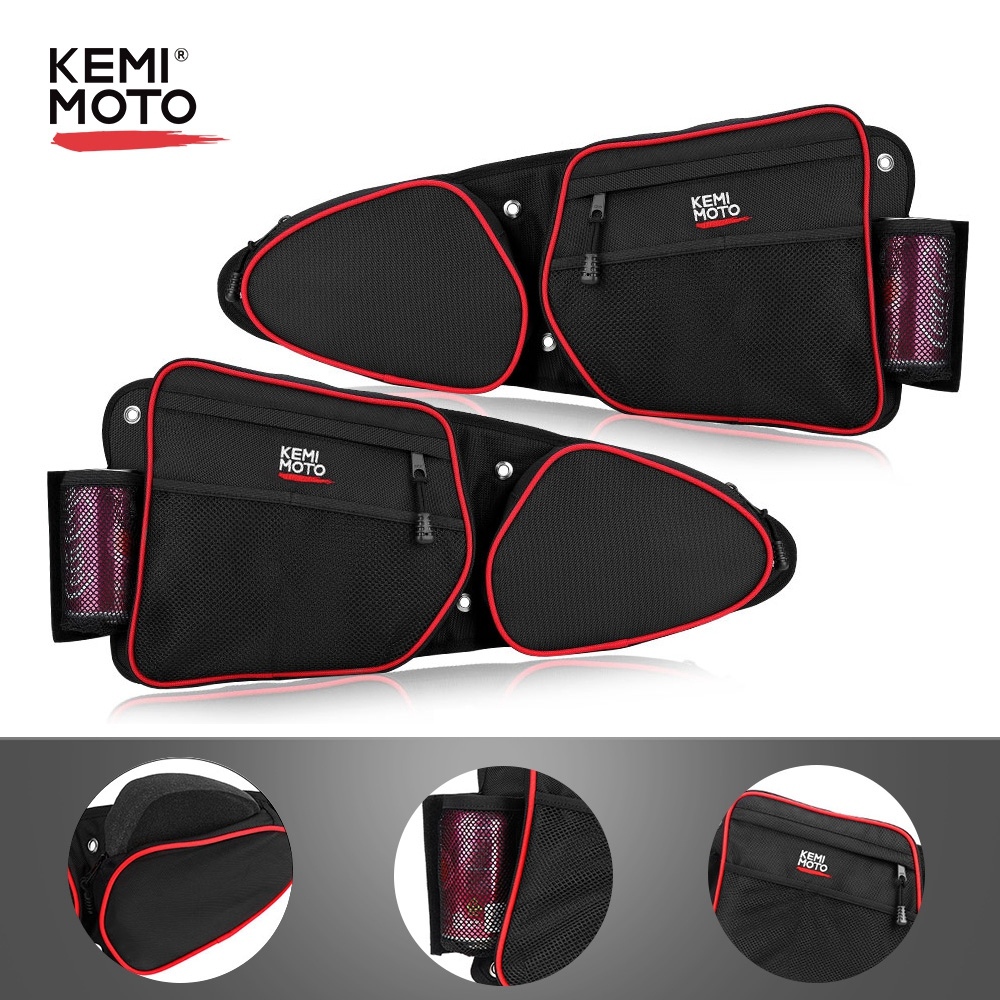 KEMIMOTO Driver Passenger Side Storage Door Bags Left And Right UTV For Polaris RZR XP 1000 EPS SxS 4x4 2019 2020