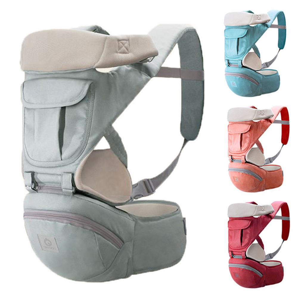 Ergonomic Baby Carrier Infant Baby Hipseat Carrier Front Facing Kangaroo Baby Wrap Carrier For Baby Travel 0-24 Months