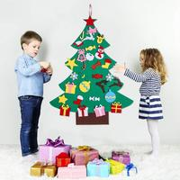 95X70CM DIY Filz Weihnachten Baum Neue Jahr Geschenke Kinder Spielzeug Künstliche Baum Wand Hängen Ornamente Weihnachten Dekoration für Home|Bäume|   -