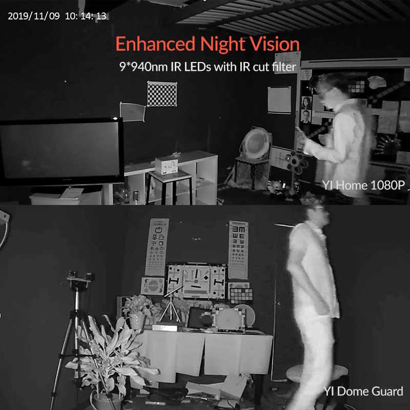 Yi Dome Guard Camera 1080P Fhd Nachtzicht 360 Graden Dekking Motion Human Detectie Baby Huilen Alert Wifi Tijd lapse Cloud