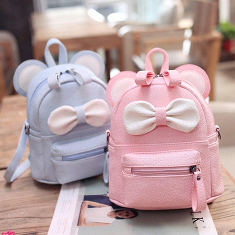 New Girl Shoulder Bag Cartoon Backpack Dual-use Small Diagonal School Bag Children Cute Bow Small Backpack Mochilas Escolares