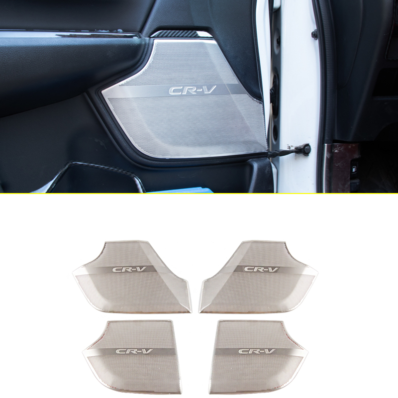 lsrtw2017 car door sound audio speaker trims for honda crv 2017 2018 2019 2020 2021 cr v 5 interior accessories decoration|Interior Mouldings| - AliExpress