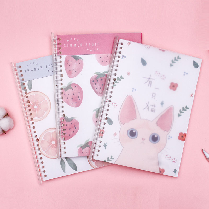 1 Pc Kawaii B5 Coil Notebook Pull-out Loose-leaf Notebook Large Planner Book Agenda To Do List Stationery School Office Supplies