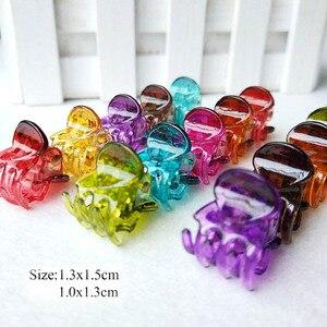 12 pcs/sets Fashion Women Mini crab Hair claw clip Girls Black Plastic Hairpin Claws Hair Clip Clamp For Women Hair Accessories