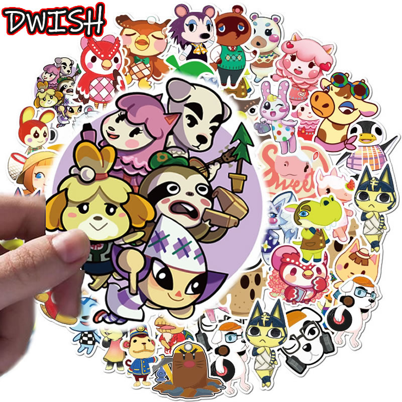 10/30/50pcs/Pack Cartoon Animal Crossing Stickers Waterproof Skateboard Guitar Luggage Cute Graffiti Sticker For Kid Classic Toy