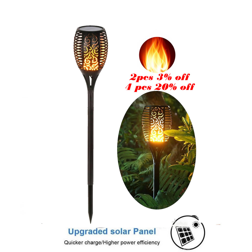 Solar Lawn Dancing flame Torch Lights radar LED Flame Lamp IP65 torch Flame Lamp Flickering bulb dancing Lawn Lamp Path Lighting|Solar Lamps| |  - title=