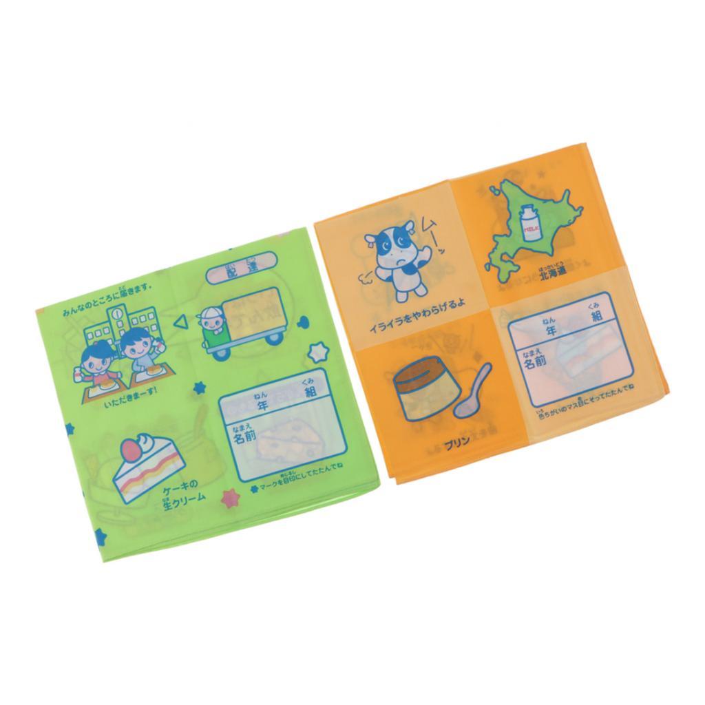 2Pack Kids Handkerchiefs Comfy Cotton Cartoon Hankie Square Hanky Kerchiefs Child School Cow Handkerchiefs Can Write Name On It