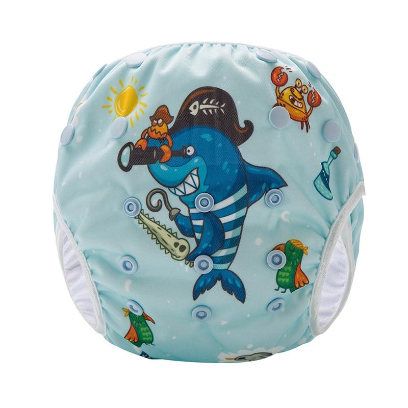 Waterproof Swimming Nappies Shark Pattern Reusable Swim Diaper SM-DY4