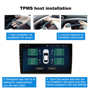 Image 5 - Android Navigation Alarm System With 4 Sensors Wireless Transmission TPMS USB Android Car TPMS Tire Pressure Monitoring System