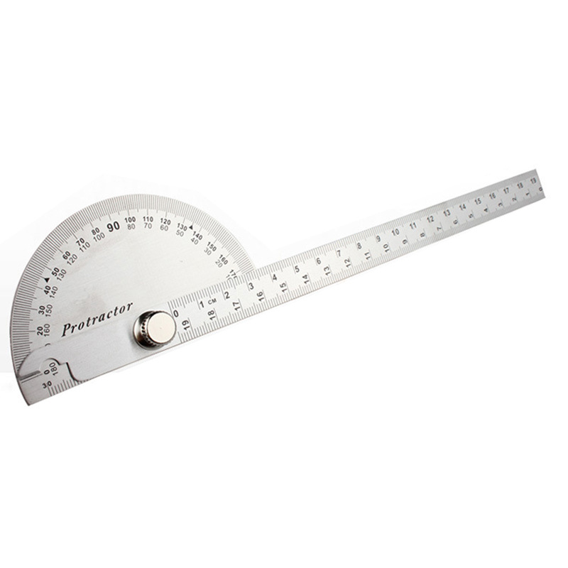Angle Ruler Simplicity Protractor Universal Angle Ruler Protractor 180-Degree Steel Angle Multi-functional Activity Square