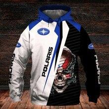 Nova motocicleta logotipo jaqueta polaris hoodie de alta qualidade 3d impressão digital moda casual esportes camisa legal corrida velocidade terno